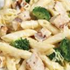 GRILLED CHICKEN PENNE ALFREDO